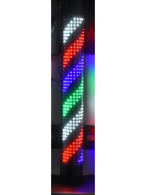 Chrome Plated Barber Pole With Led Lamp And  Acrylic Outer Cylinder Large Barber Pole Light - LED - 48