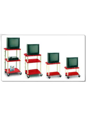 Color Plastic Carts, Adjustable Height