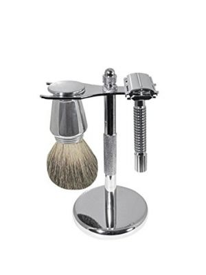 High Quality Scalpmaster Chrome Shave Set Shaving Cream