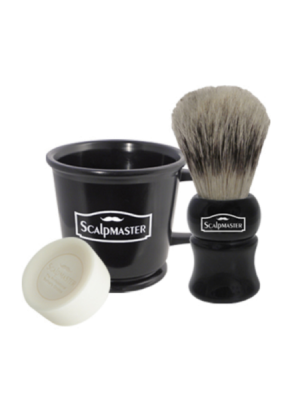 Scalpmaster Shaving Set 4 Piece Mini Kit