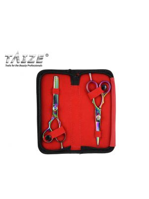 TAIZE® HAIR STYLING KIT - Rainbow Titanium Coated Hair Shear and Thinning Shear